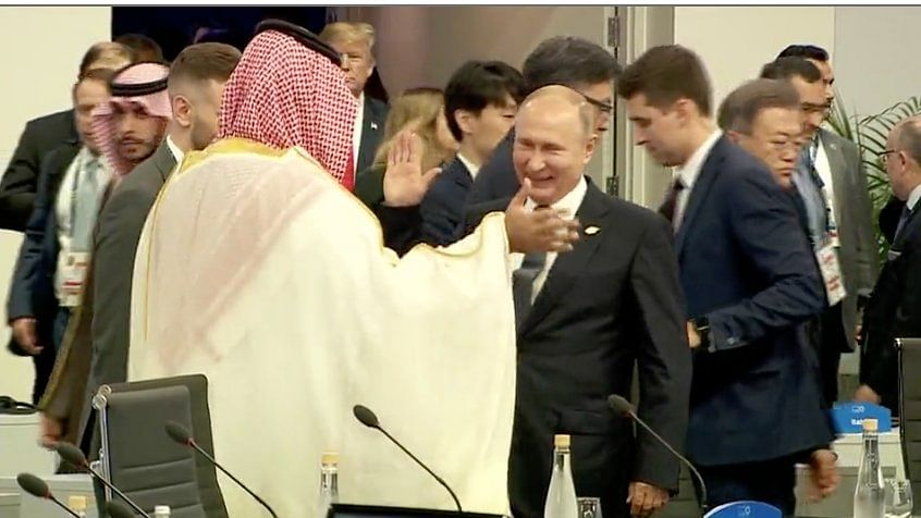 Watch: Putin and Saudi crown prince high five