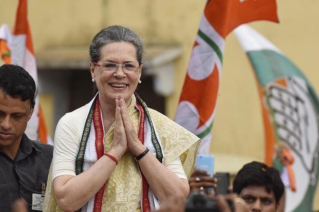 Former Congress president Sonia Gandhi