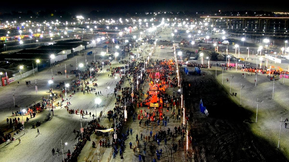Where is the crowd in Kumbh this time?