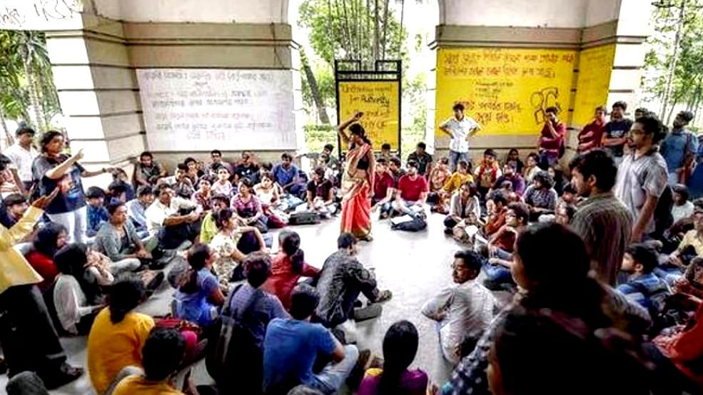 Presidency University students continue with sit-in outside VC's office; demand repeal of students' suspension