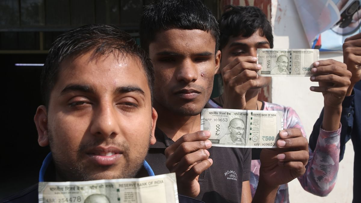 Demonetisation effect: Currency designed with eyes closed