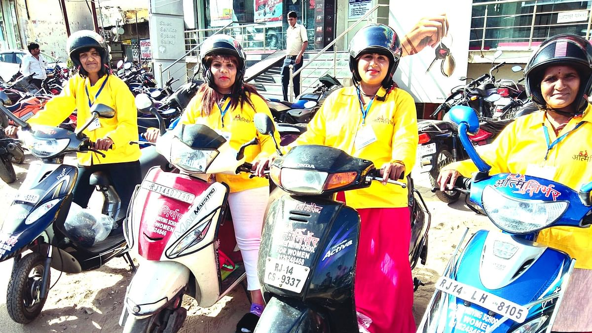Aatm Nirbhar; women-oriented driving school  gives women wings on two wheels