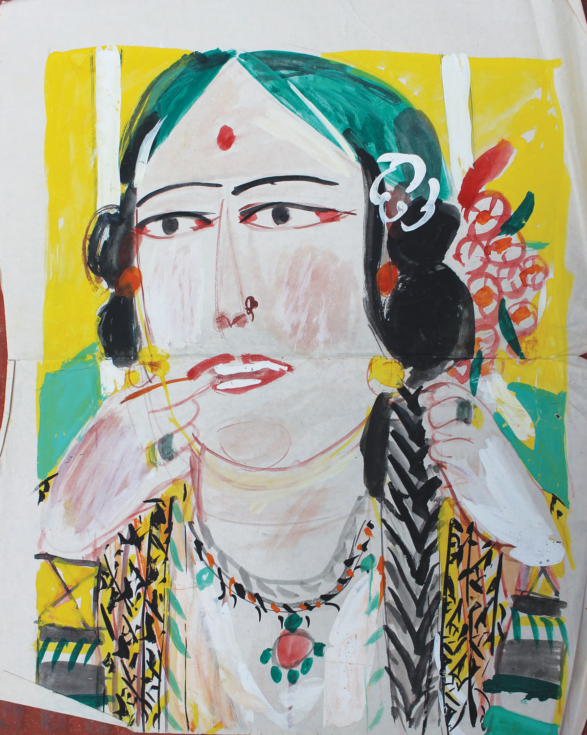 'Women seen and remembered': KG Subramanyan's  euphoric splash of colours