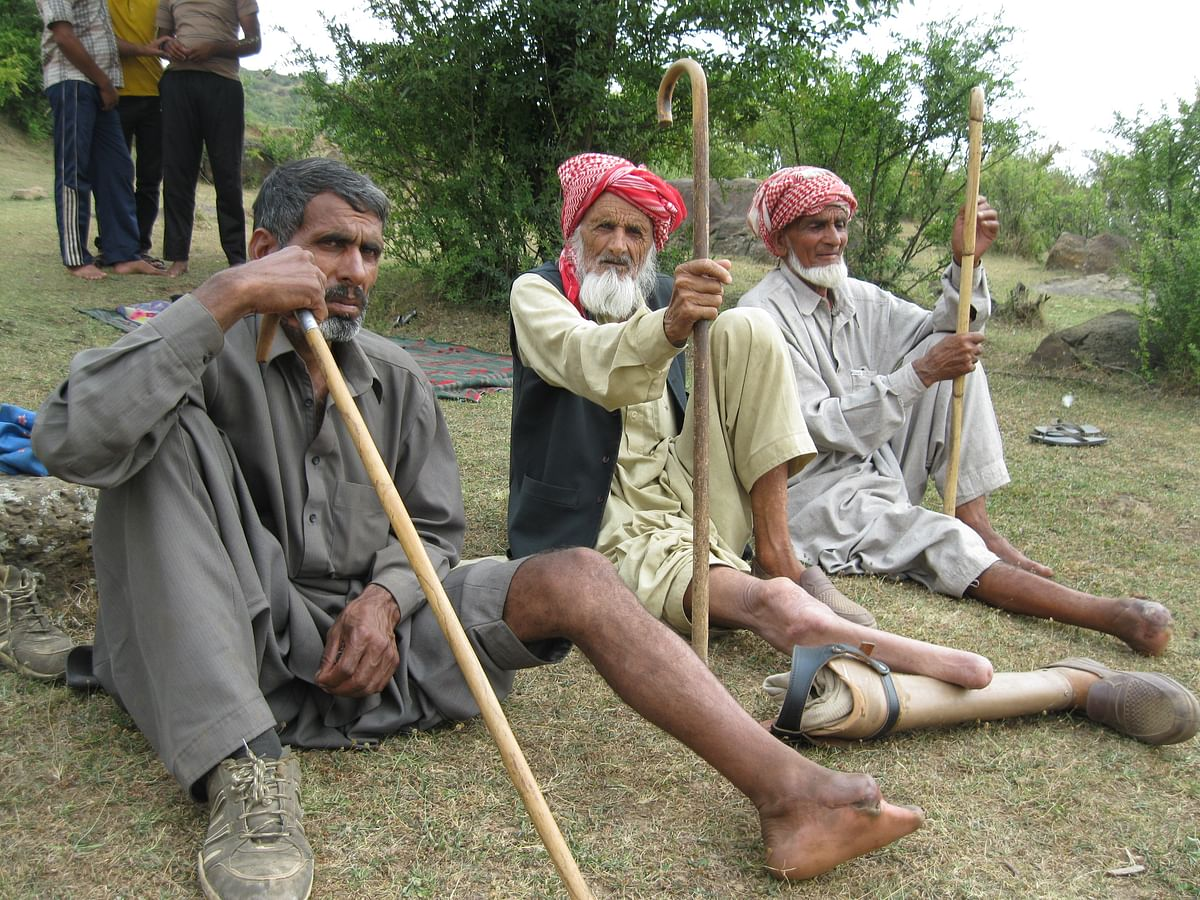 From right to left, Hadaith Ullah, Mirza Khan and Mohammad Khan in Balakote.