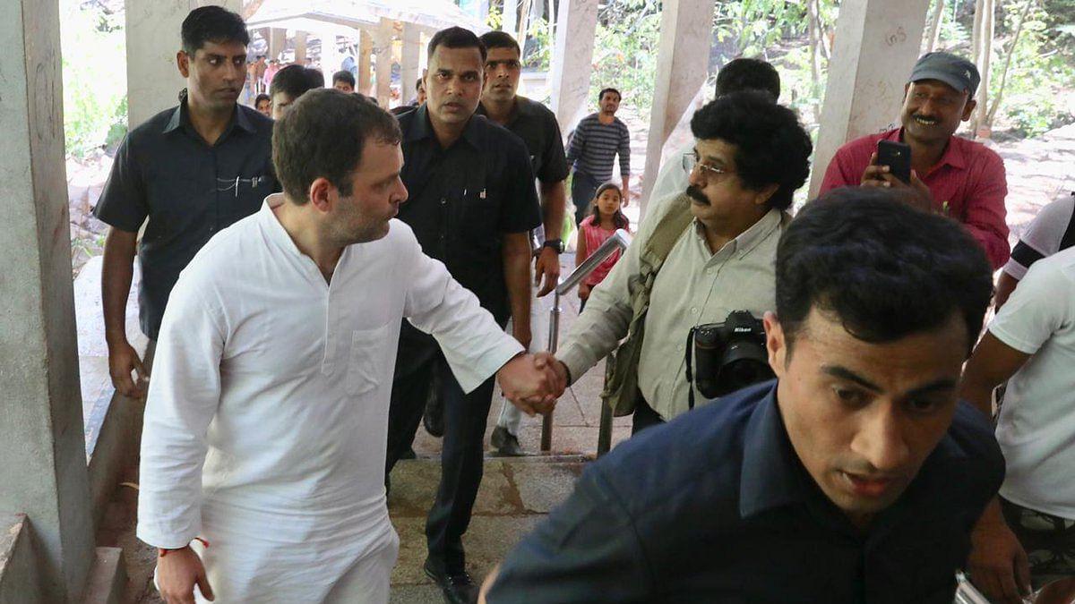 Rahul Gandhi in Andhra Pradesh, treks Tirumala hills, prays at Lord Balaji temple