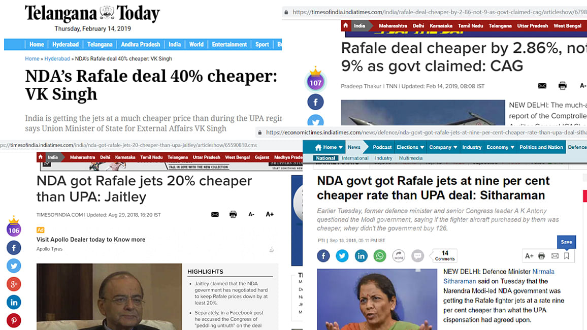 CAG's mysterious maths adds to growing confusion on  Rafale  pricing