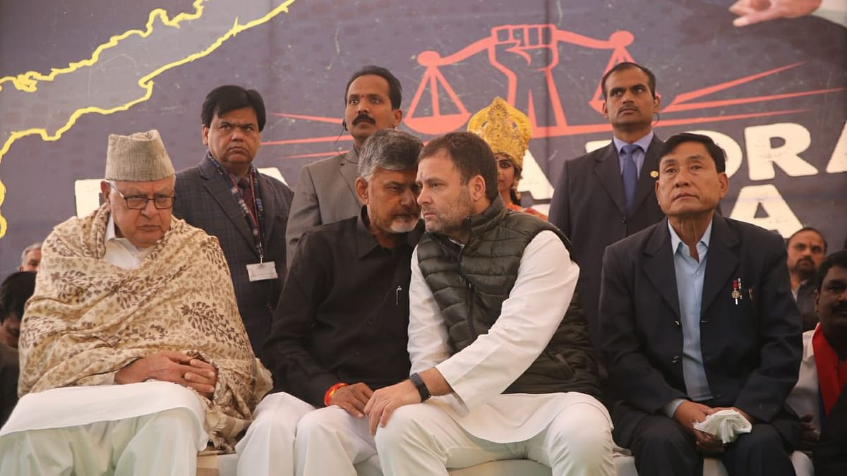 Rahul Gandhi supports Naidu's demand of special status to AP, says Modi facilitated loot in Rafale deal