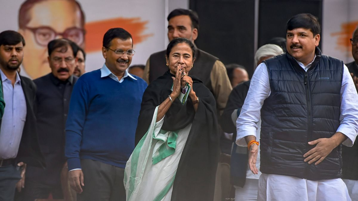 "Opposition leaders take part in mega rally organised by AAP in Delhi; BJP govt seen as ""threat to democracy"""