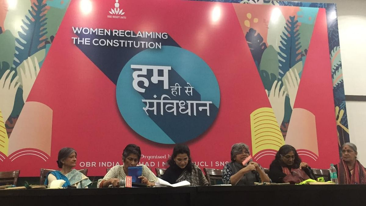 Women activists come together to ensure Modi govt's defeat  by reclaiming the Constitution