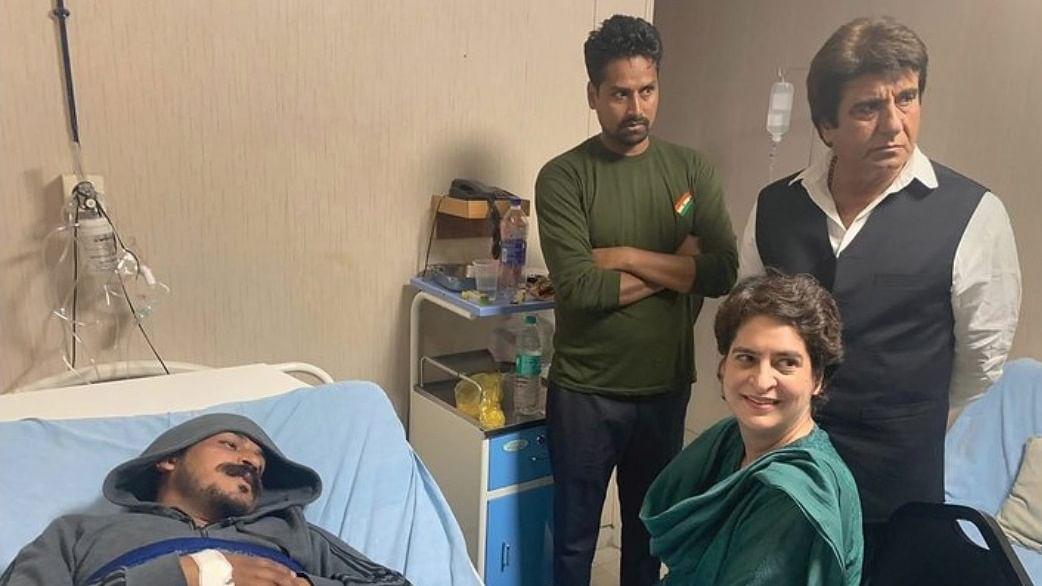 Priyanka Gandhi meets Bhim Army chief Chandrasekhar Azad, hits out at BJP