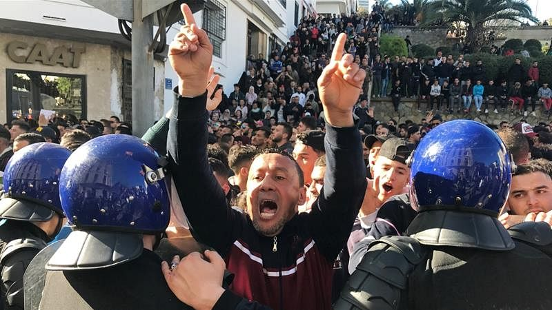 Anti-government protests sweep Algeria, 45 arrested