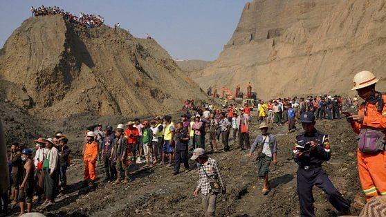 More than 50 feared killed in landslide at Myanmar's jade mine