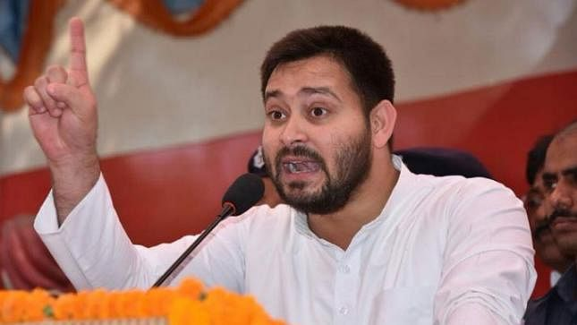 Tejashwi flays Nitish for sharing stage with his 'mahboob' Amit Shah