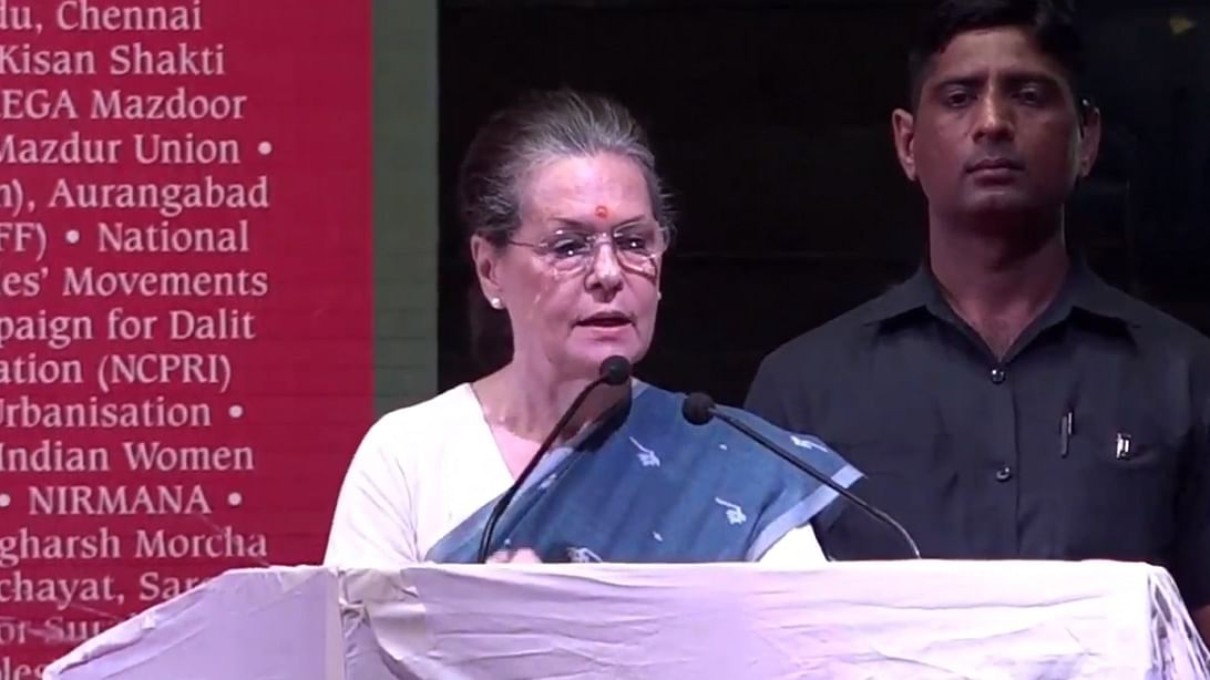 Sonia Gandhi: Country's soul is being crushed by the BJP