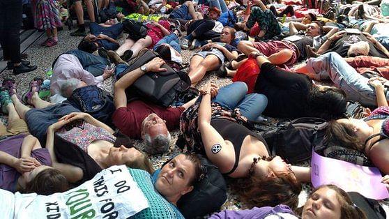 Environment activists block London Stock Exchange