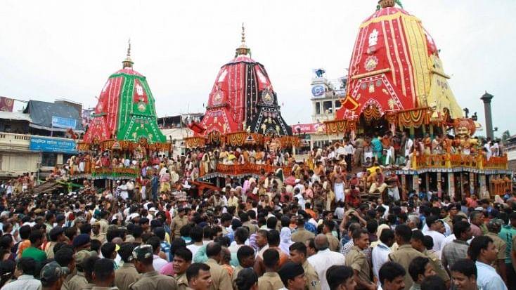 Pilgrims at Puri's Jagannath temple (Social media)
