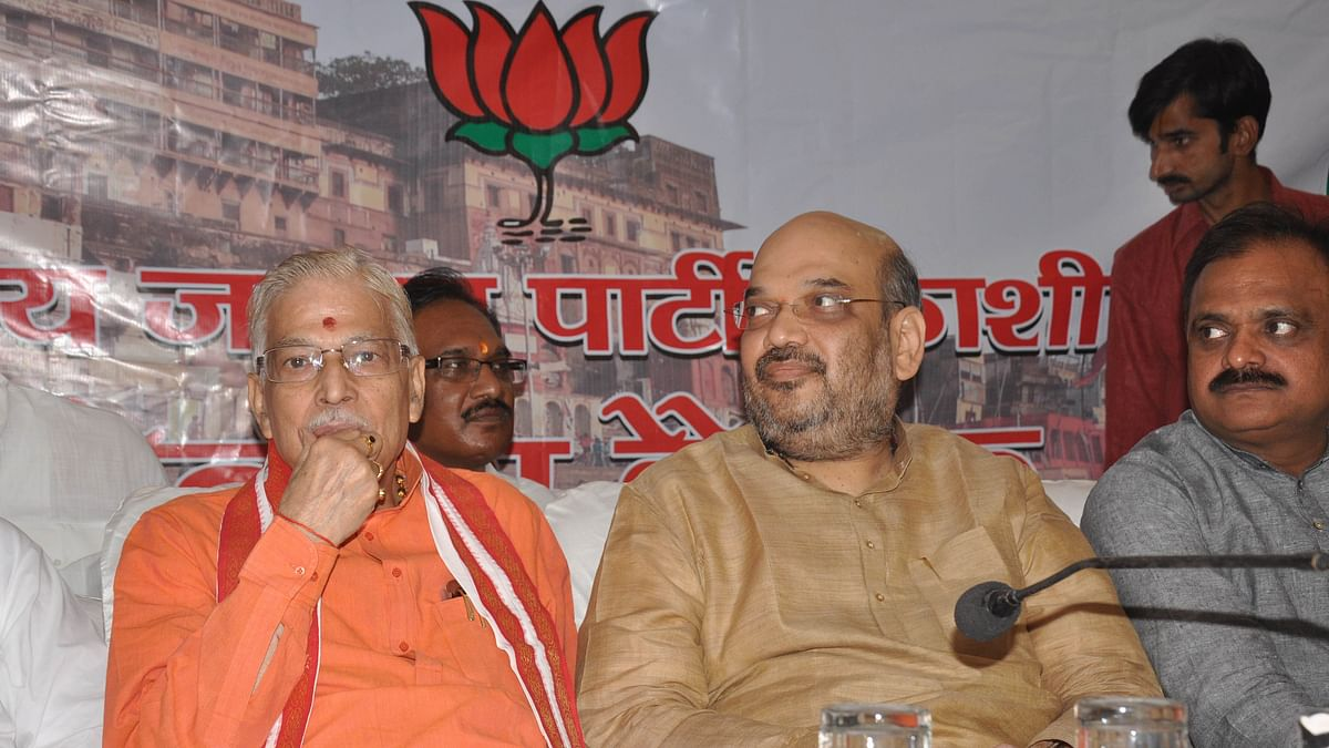 A file photo of senior BJP leader Murli Manohar Joshi and BJP President Amit Shah (PTI)