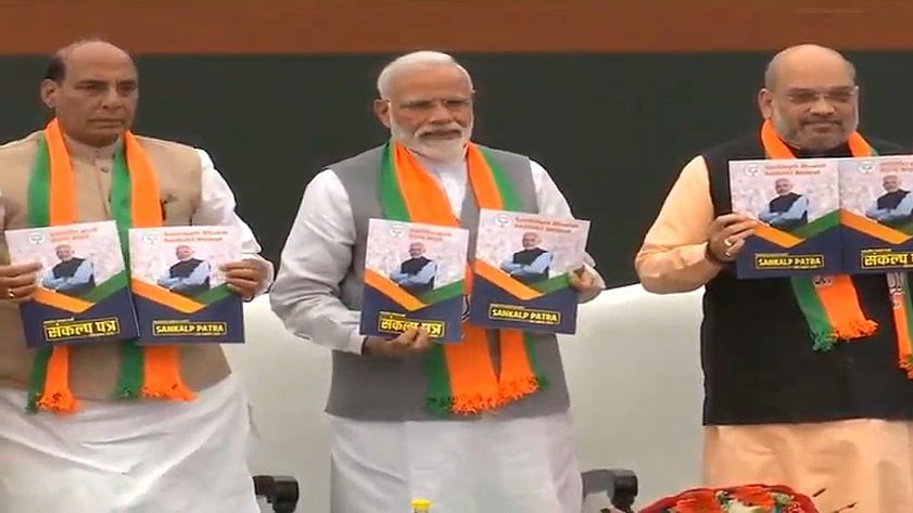 Did the BJP need to print a new manifesto in 2019?