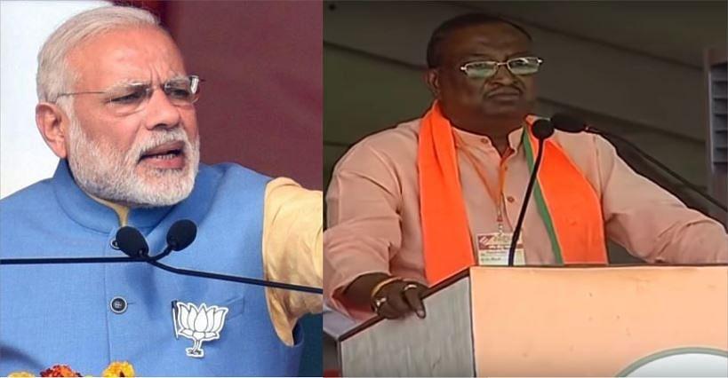 At PM Modi's Aligarh rally, BJP MLA canvasses for votes in the name of President Kovind's caste