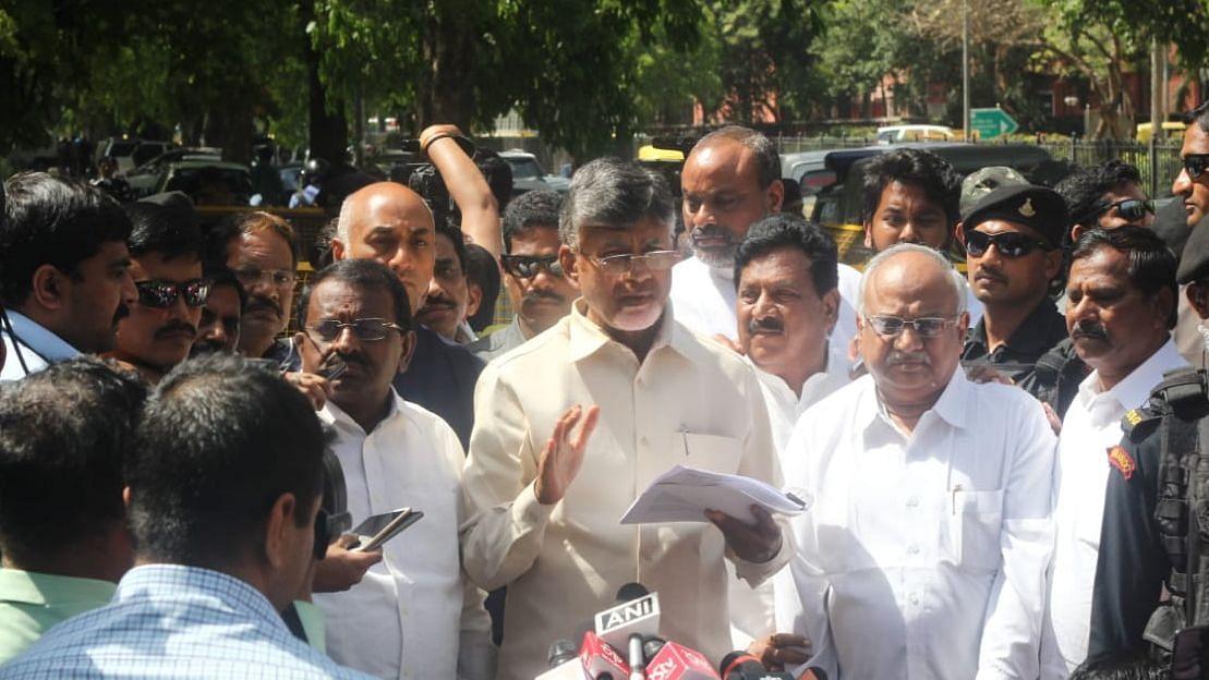 Andhra Pradesh CM Chandrababu Naidu (Photo by Vipin)