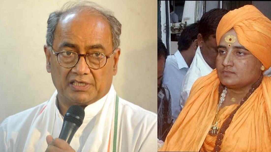 Digvijay Singh and Sadhvi Pragya Thakur