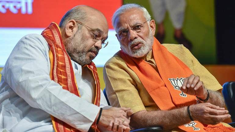 Prime Minister Narendra Modi and party chief Amit Shah (PTI)