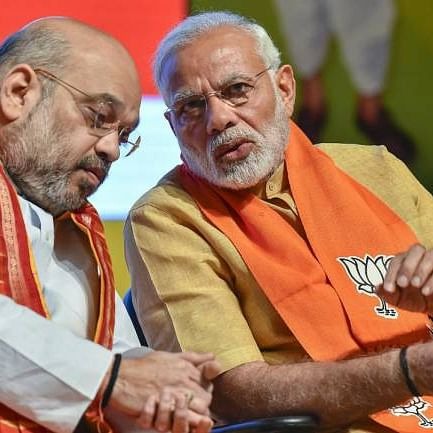 Prime Minister Narendra Modi and party chief Amit Shah (PTI)