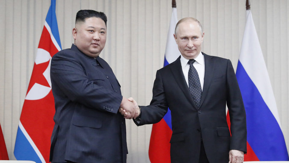 Putin, Kim Jong-un hold first ever summit