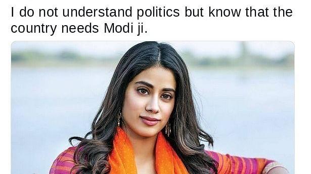 How Chowkidar Govind Saroj became actor Janhvi Kapoor and endorsed PM Modi