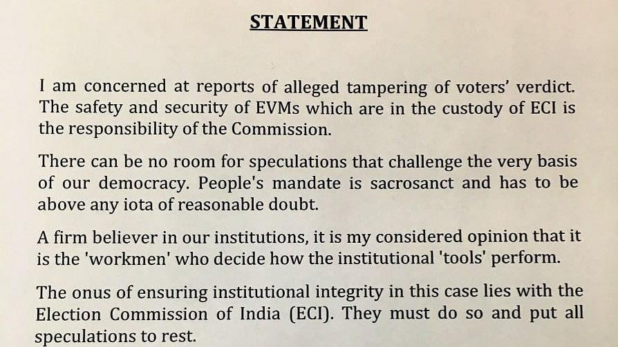 Former President Pranab Mukherjee expresses concern on EVM tampering reports