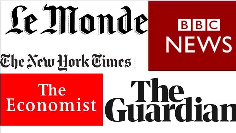 Economist, Guardian, NYT, Le Monde, BBC mastheads