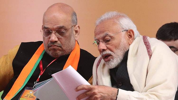 Prime Minister Narendra Modi with BJP president Amit Shah. (Express photo by Amit Mehra/File)