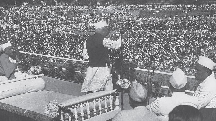 Concerns of Jawaharlal  Nehru during the first General  election in 1952
