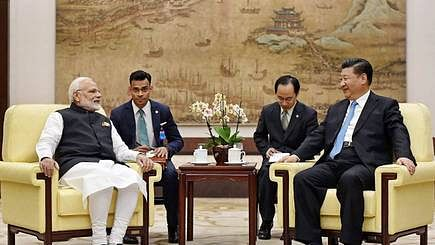 PM Narendra Modi and Chinese President Xi Jinping during an informal summit at Wuhan in April 2018. (file photo)
