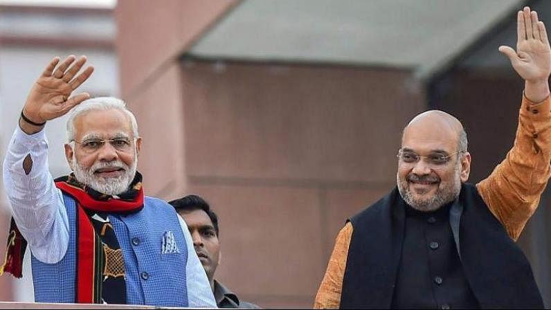 Prime Minister Narendra Modi and BJP party President Amit Shah (PTI)