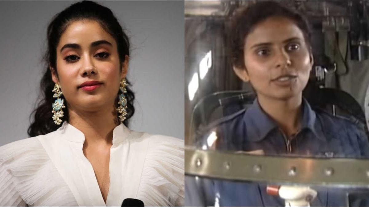 Janhvi Kapoor will be seen as Gunjan Saxena (right)in her next 'Kargil Girl'