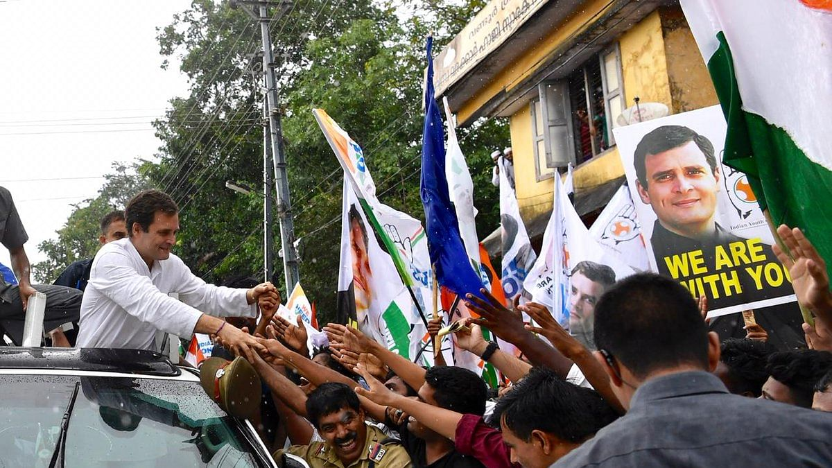 Rahul receives rousing reception in Wayanad despite heavy rain, he promises to speak up for its people