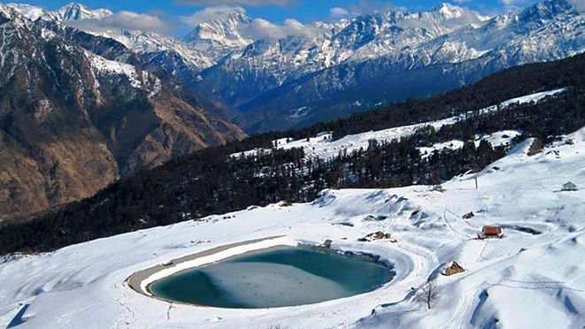 Auli in Uttarakhand is one of the most popular skiing destinations in India.