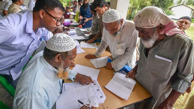 A whopping 40.7 lakh people were excluded from the draft NRC that was published on July 30, 2018, resulting in an uproar (file photo).