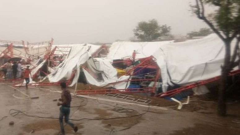 14 killed as pandal collapses during Ram Katha in Rajasthan's Barmer