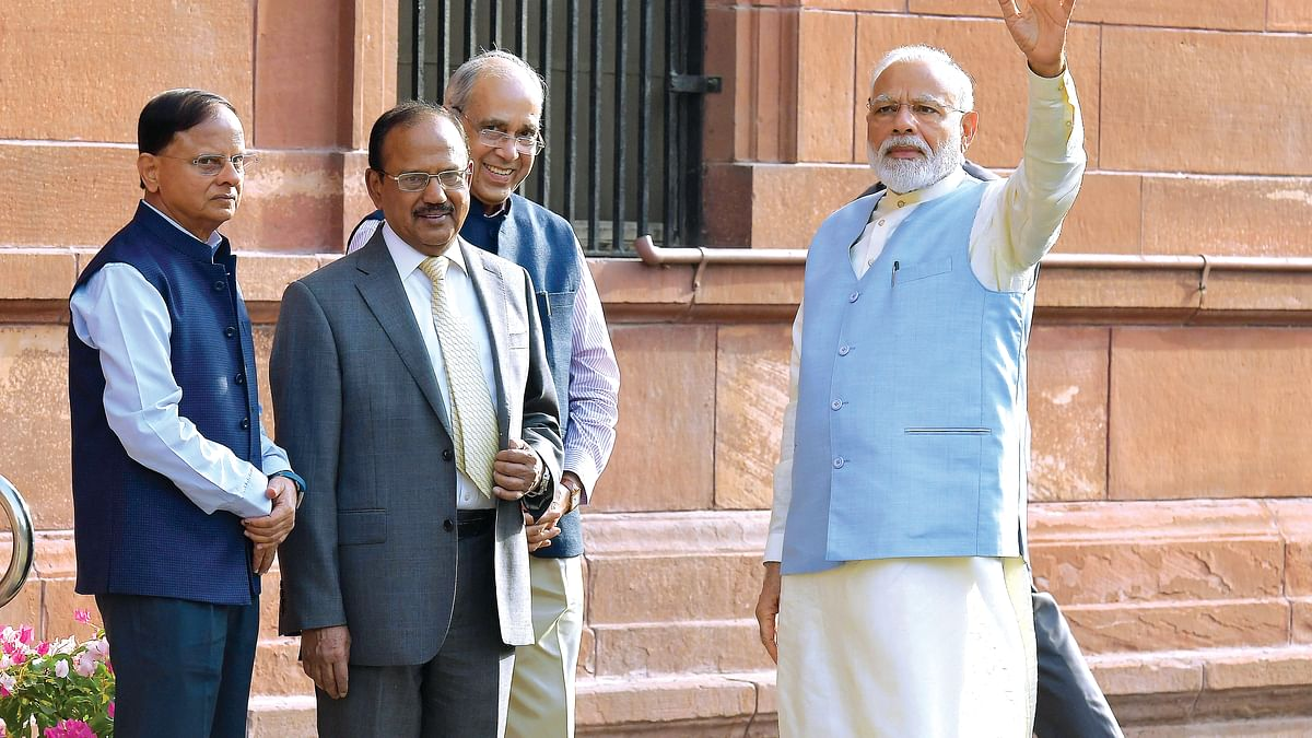 PMO replaces the cabinet, restructuring complete with cabinet rank to Doval, Nripendra Misra and PK Mishra
