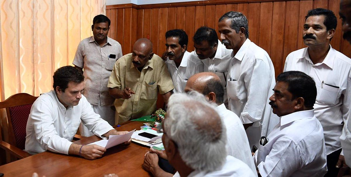Congress President & Wayanad MP Rahul Gandhi reviews representations and concerns of constituents
