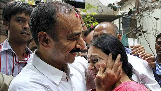 Sanjiv Bhatt with wife Sweta (file photo).