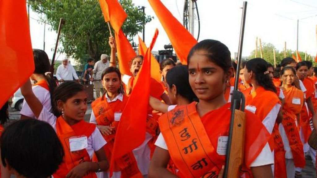 FIR against Pune girls for firing air guns, displaying swords in VHP procession
