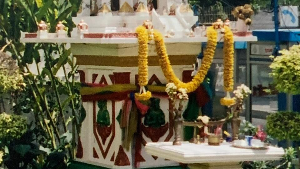 A traditional spirit house.