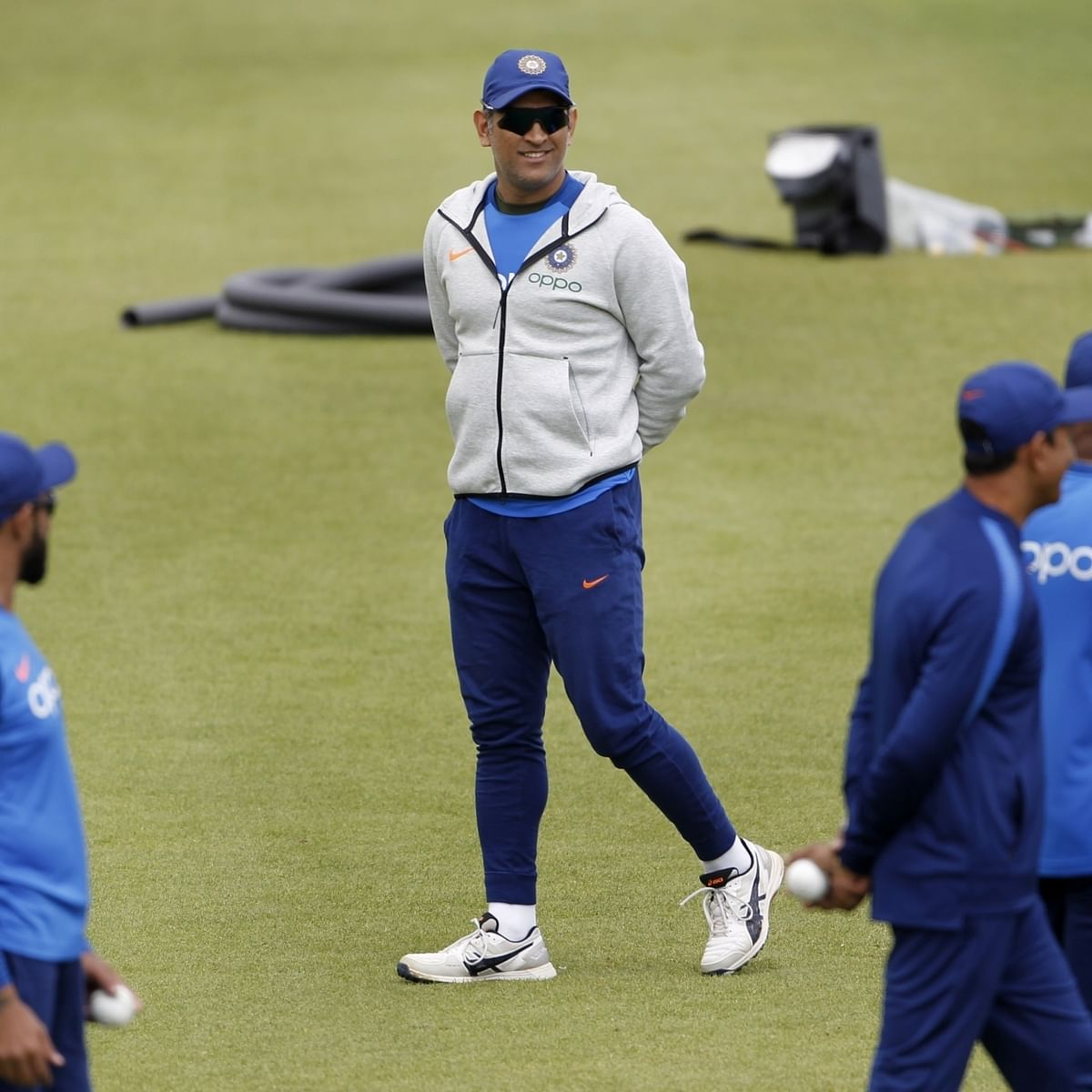 India's MS Dhoni during a practice session. A file picture. (Photo: Surjeet Yadav/IANS)