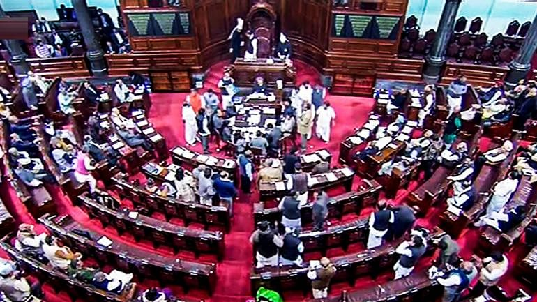 TMC members protest against disinvestment and stage a walk out in Rajya Sabha