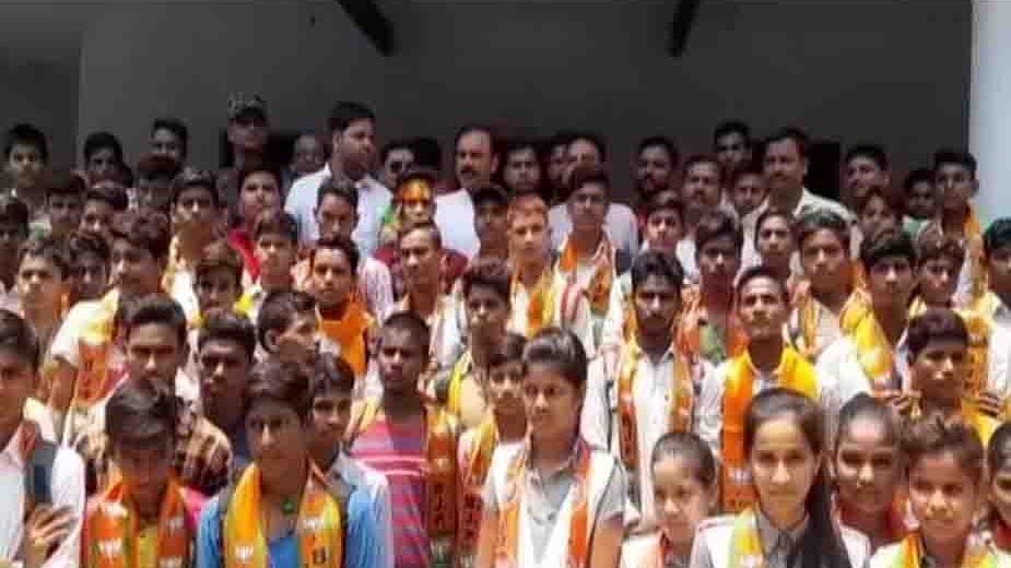 BJP membership drive in UP: A joke or effort to poison young minds? BJP MLA enrols school kids as members