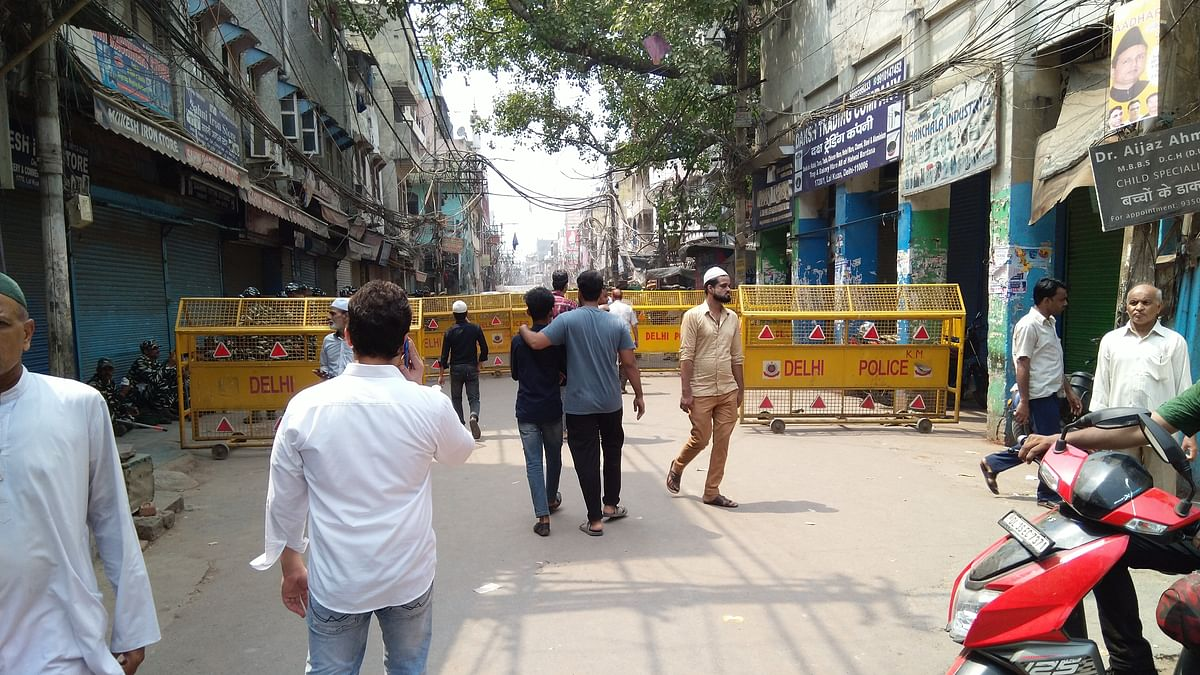 The market was again closed after a bike rally and provocative sloganeering by Hindutva elements. (Photo: NH)
