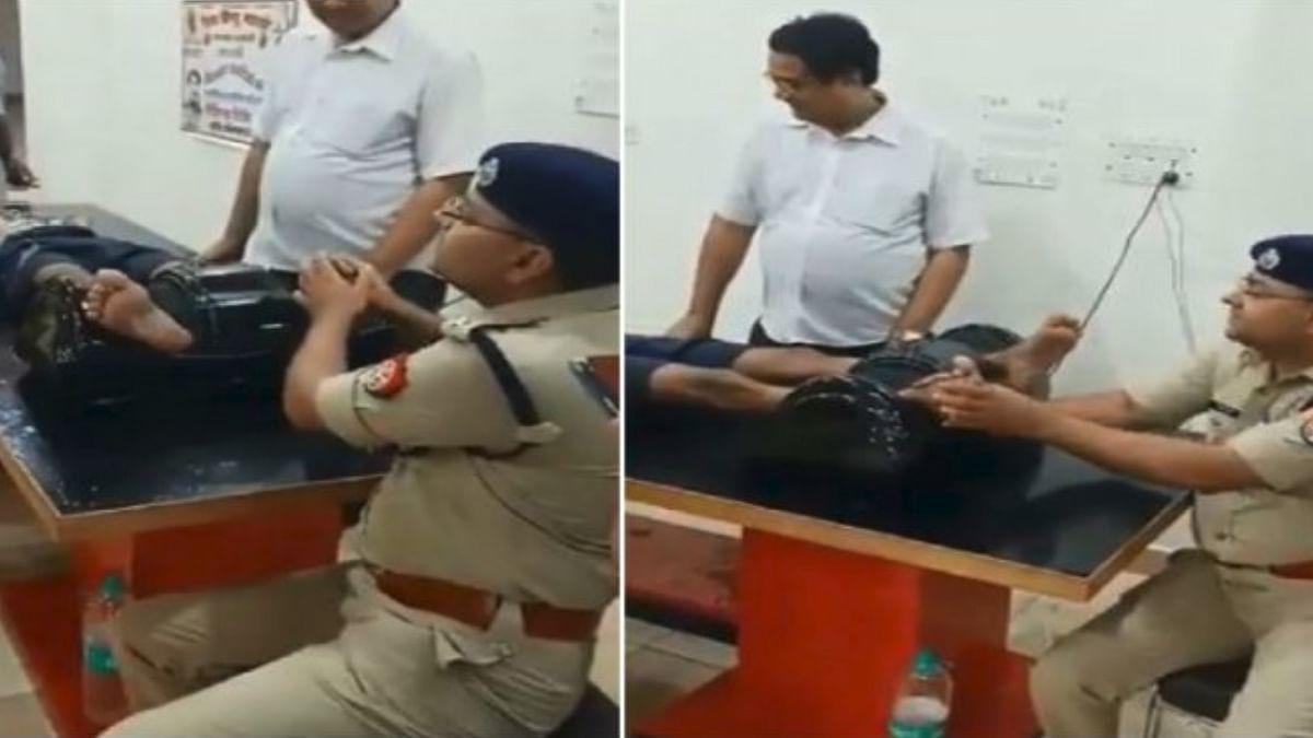 WATCH: UP Cop giving a foot massage to a kanwariya